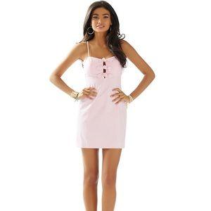 Lilly Pulitzer Petra dress in seersucker pink